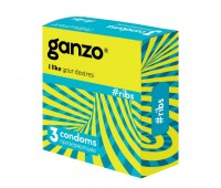 Презервативы Ganzo, Ribs ребристые 3 шт.