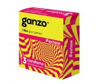 Презервативы Ganzo, Extase с точками ребристые 3 шт.